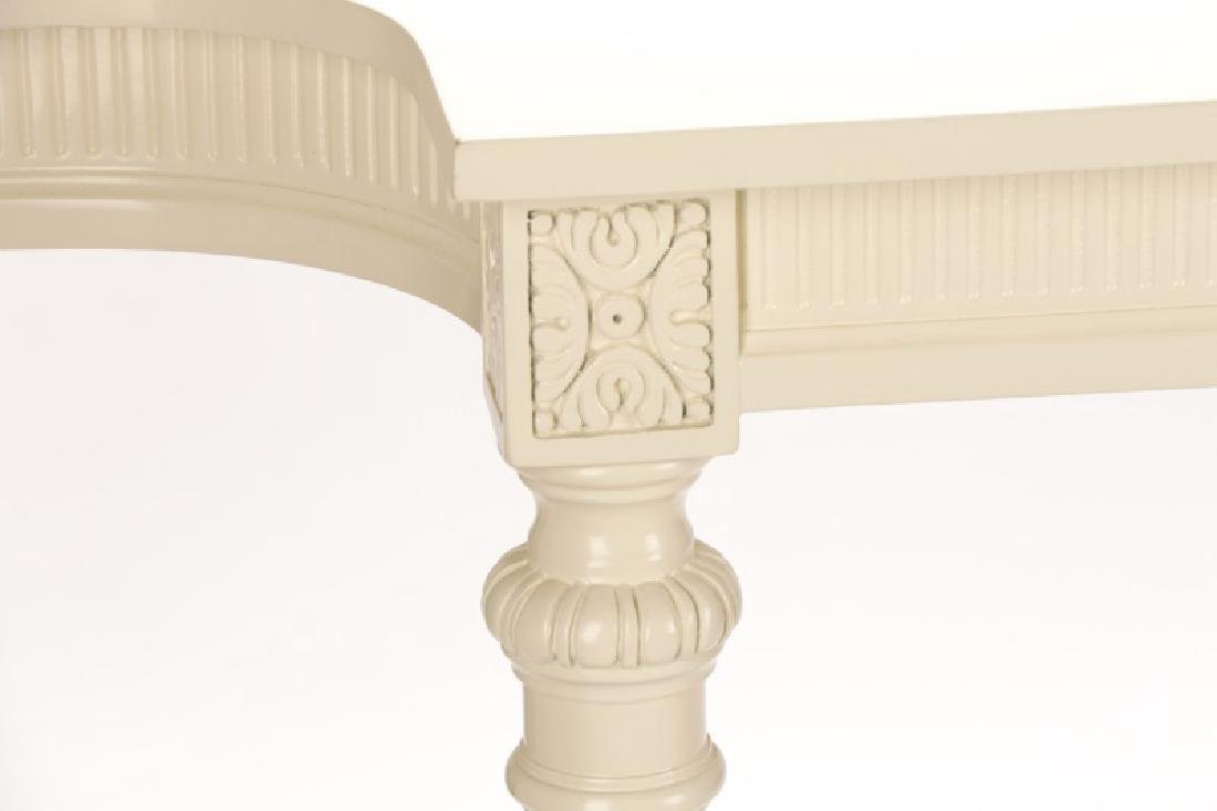 Neoclassical Style White Lacquered Console Table - 2