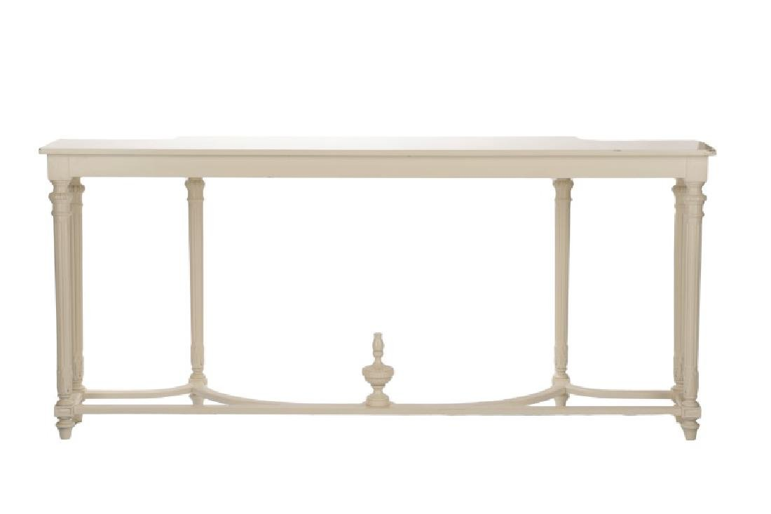 Neoclassical Style White Lacquered Console Table - 6