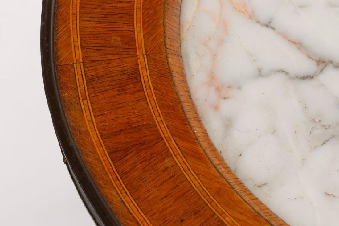 Italian Neoclassical White Marble Inset Table - 6