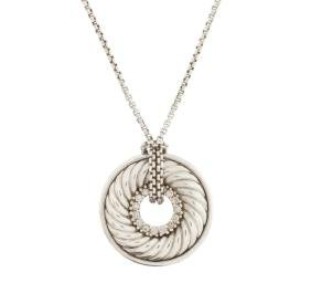 David Yurman Sterling Thoroughbred Necklace