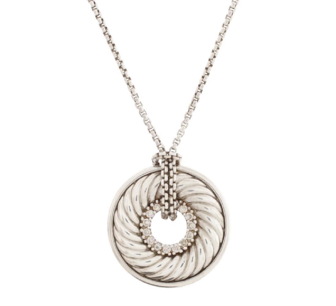 David Yurman Sterling Thoroughbred Necklace