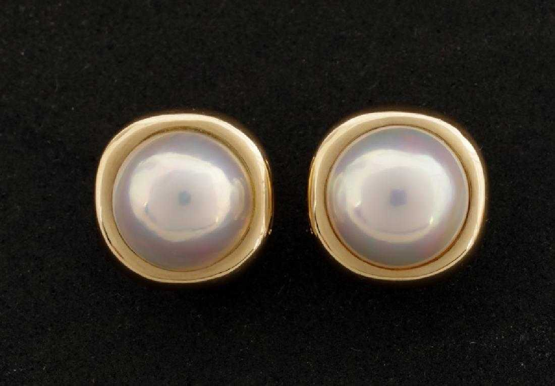 a704b7083 Tiffany & Co. 18k Gold & Mabe Pearl Earrings