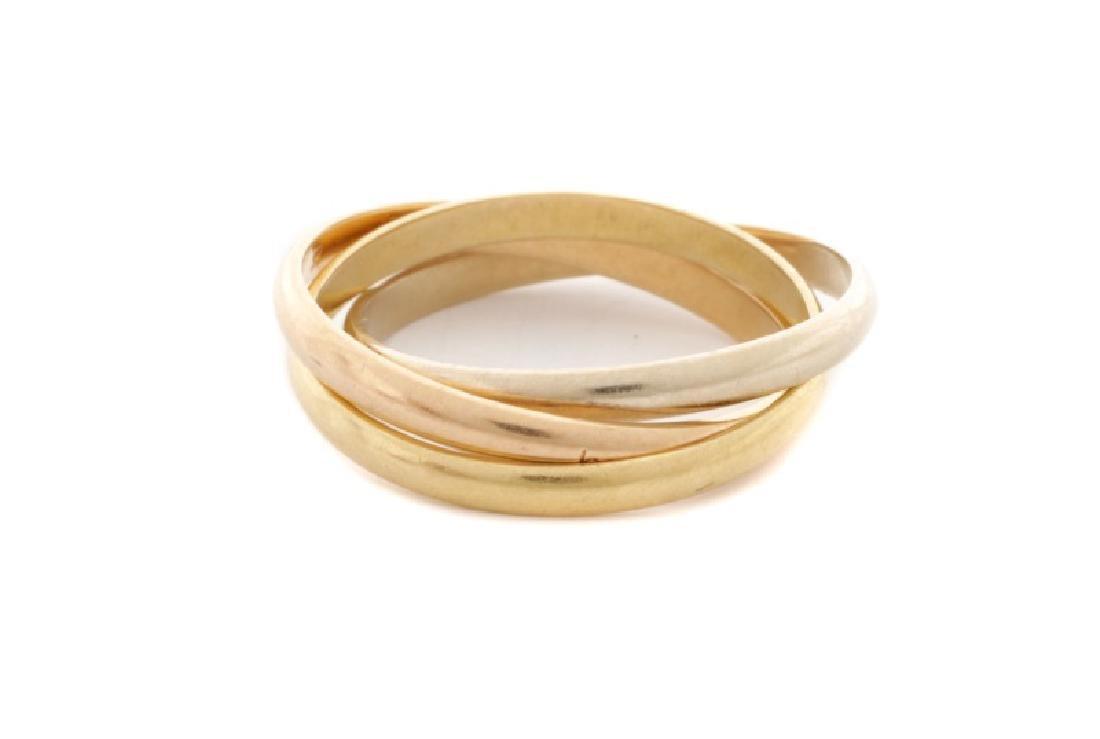 Trinity de Cartier Tri-Tone 18k Gold Ring