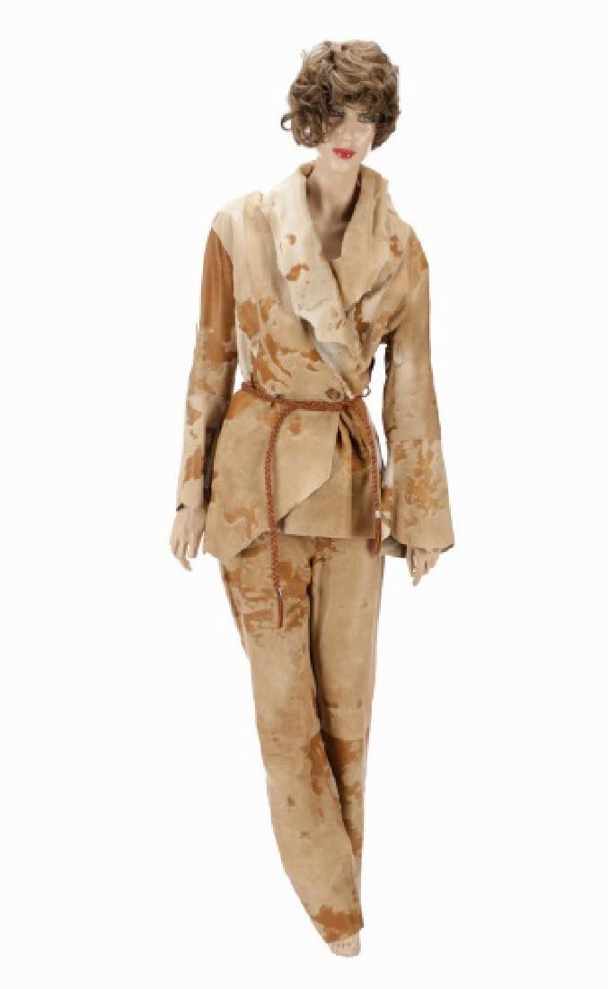 Artico Pony Skin Asymmetrical Coat and Pants
