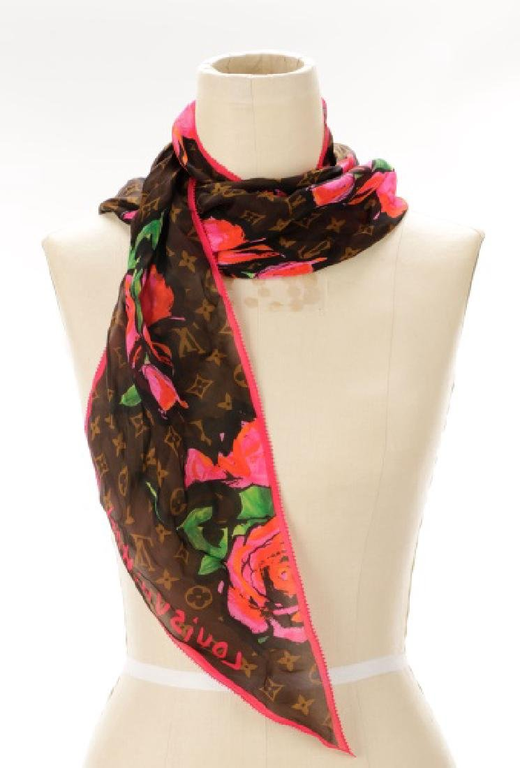 Stephen Sprouse for Louis Vuitton Silk Scarf
