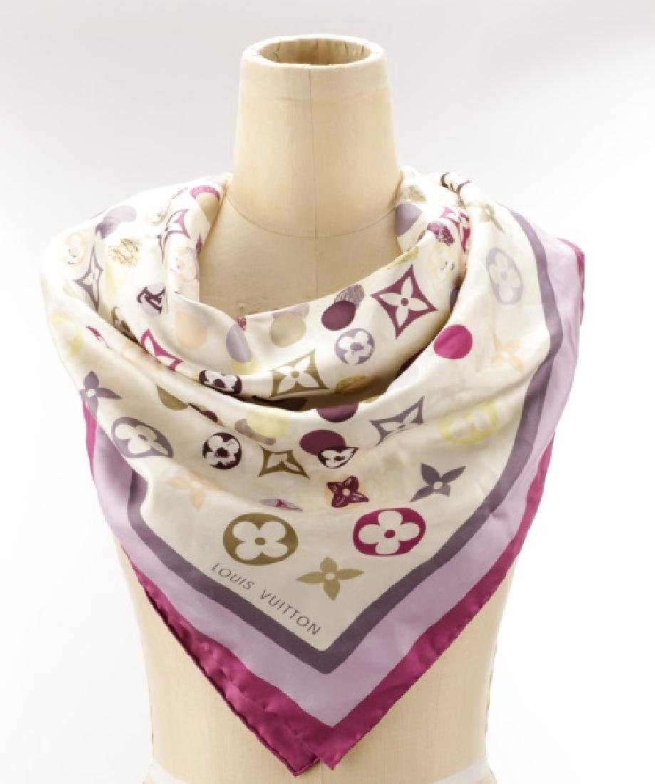 Louis Vuitton Classic Monogram Silk Scarf, Violet