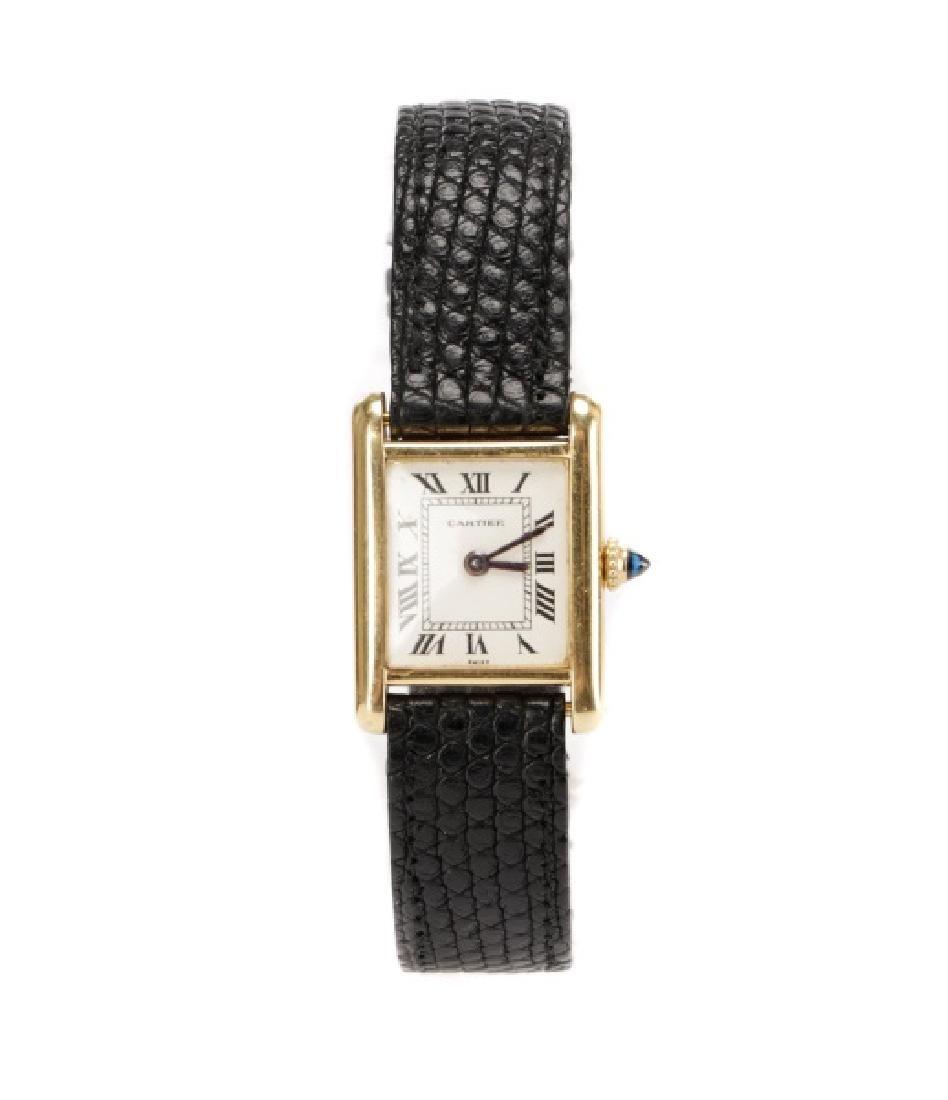 18k Gold Cartier Ladies Vintage Tank Watch