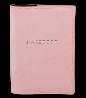 Tiffany & Co. Pink Leather Passport Cover