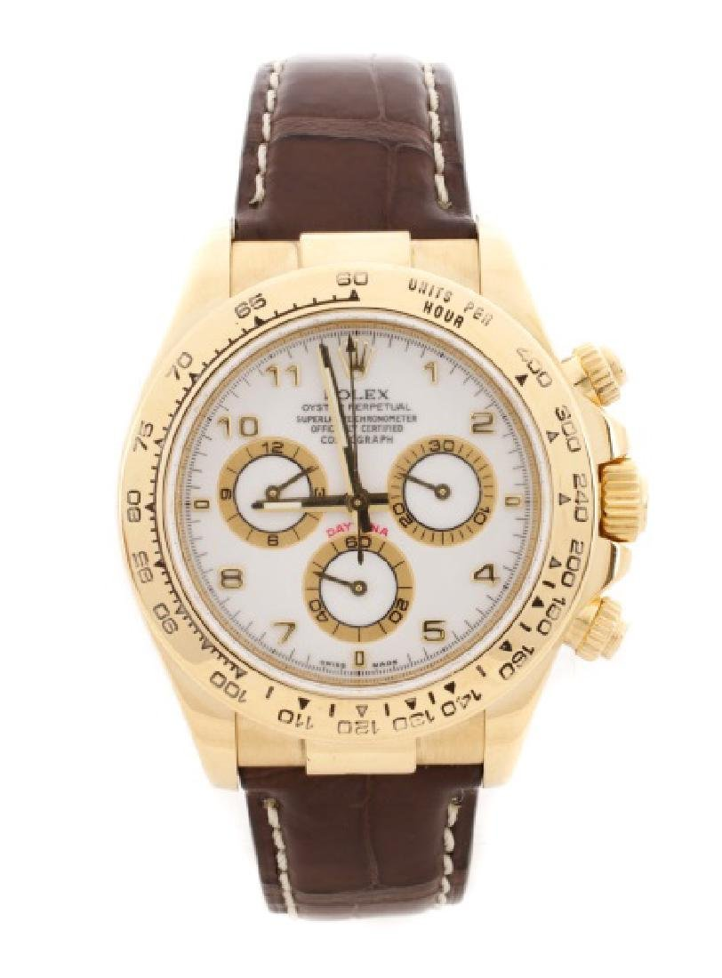 Men's 18k Yellow Gold Rolex Daytona Watch
