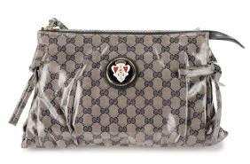 "Gucci Signature ""GG"" Crystal Large Hysteria Clutch"