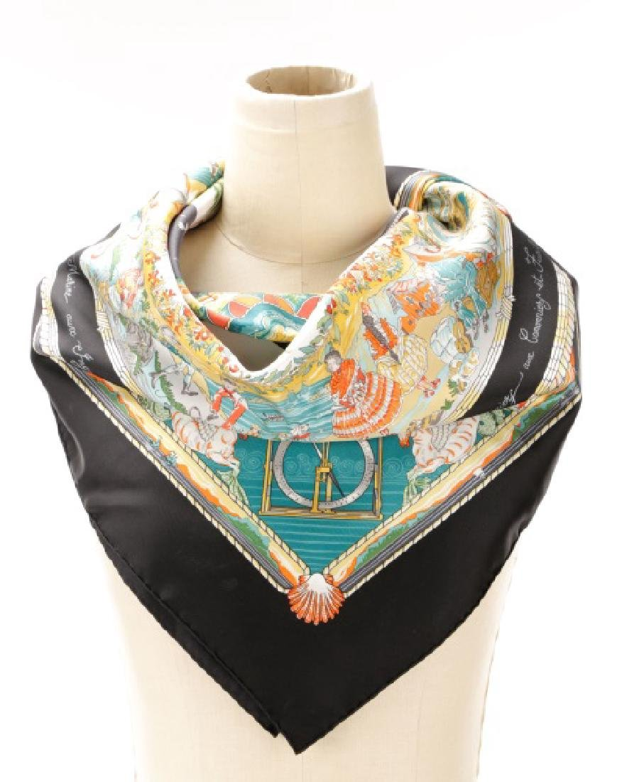 """Large Hermes """"Per Astra Ad Astra"""" Silk Scarf"""
