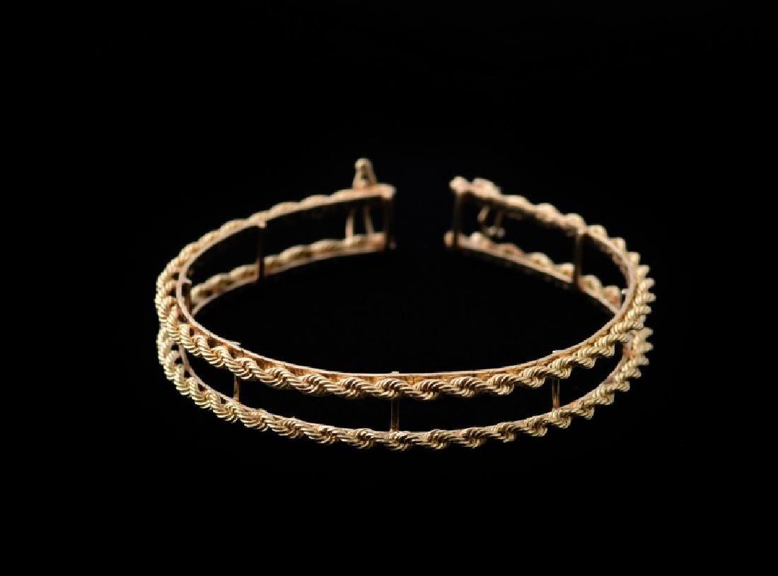 Ladies 14k Yellow Gold Tennis Bracelet Jacket