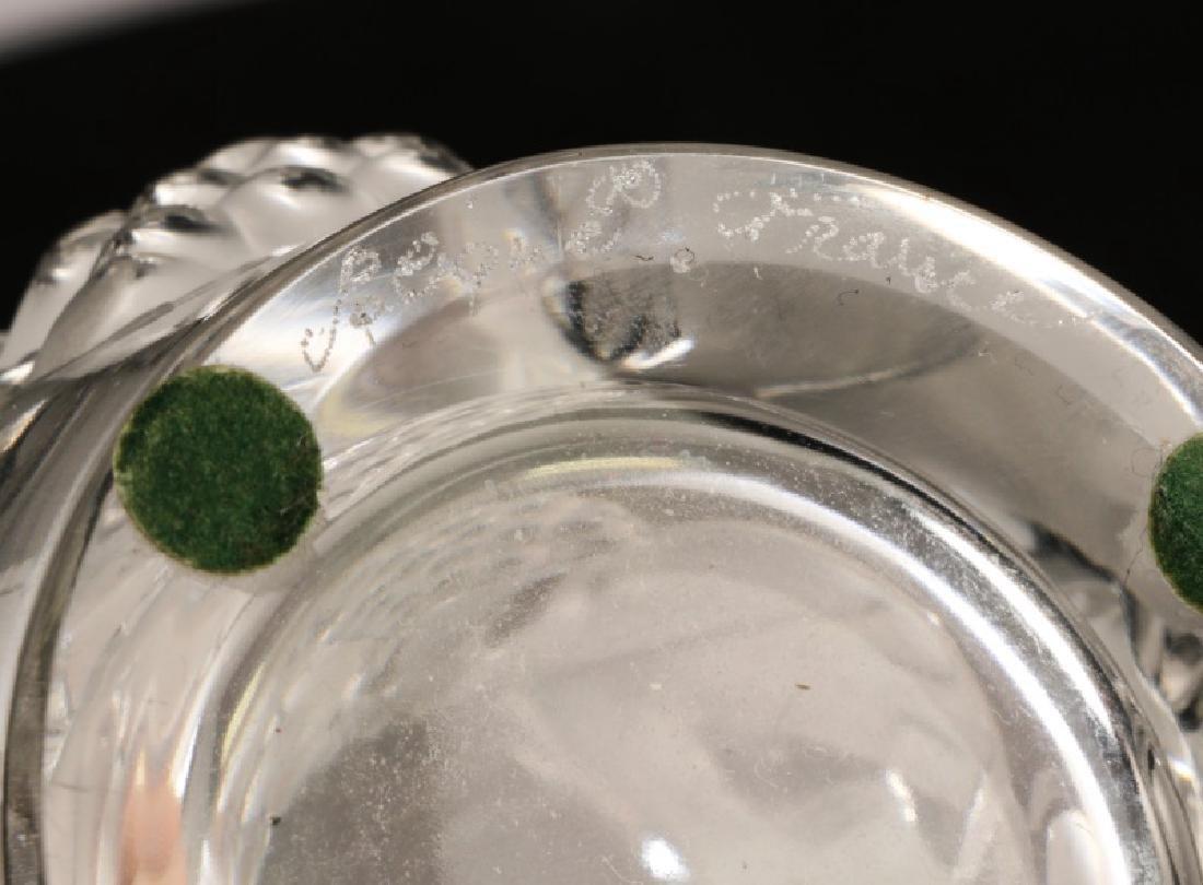 """2 Pcs Lalique Crystal, """"Saumur"""" Vase & Claude Vase - 6"""