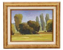 Don Bishop Verdant Landscape Contemporary Oil