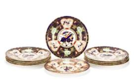 Group, 10 Royal Crown Derby for Tiffany Plates