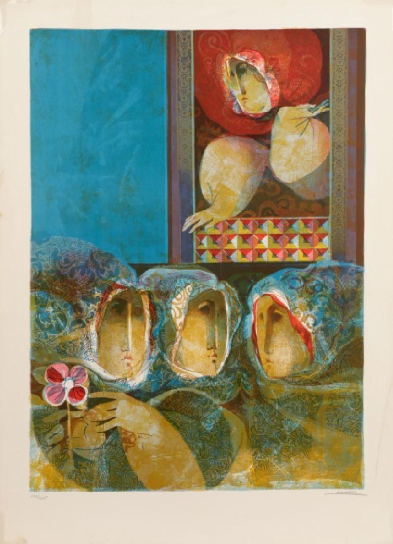 """Alvar Munoz-Ramos, """"Le Muses et Les Reveuses""""-1974"""