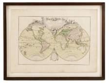 MappeMonde ou Description Du Globe1762