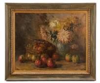 "Continenetal, ""Still Life with Chrysanthemum"", Oil"
