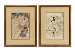 Two Utagawa Kunisada Ukiyoe Woodblock Prints