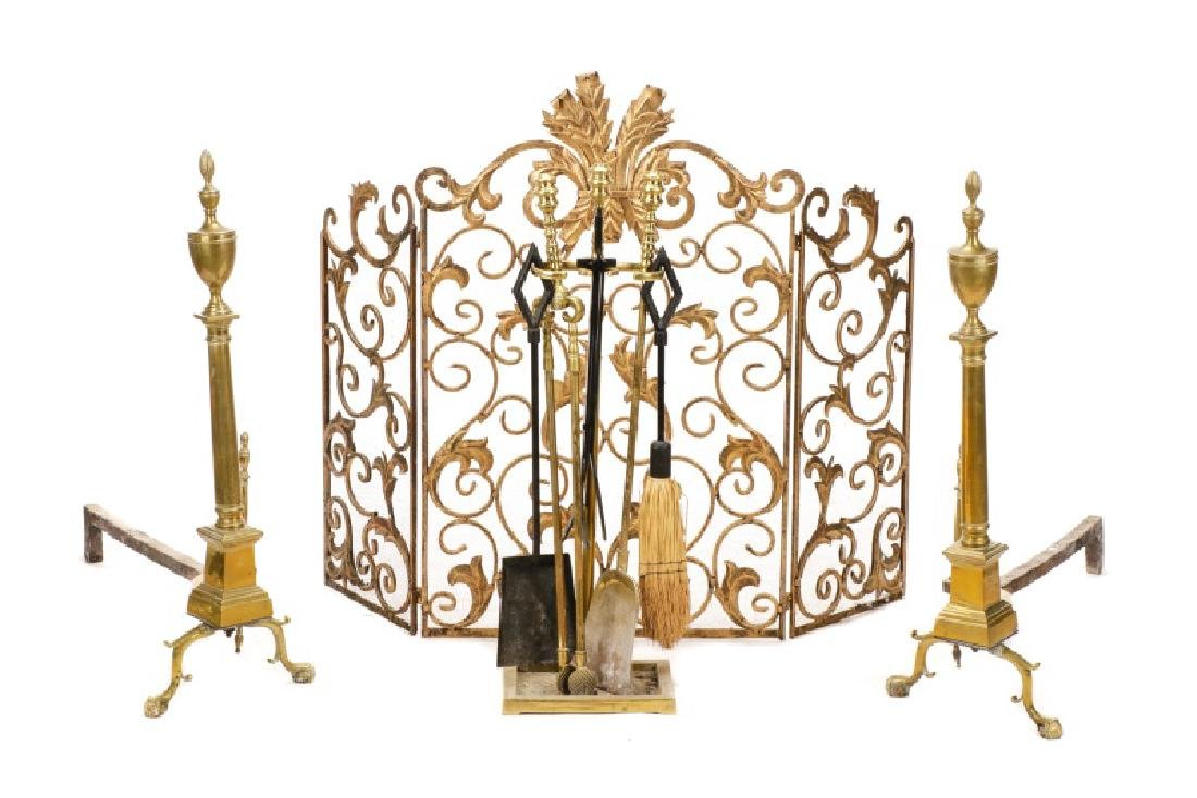 Group of Neoclassical Style Fire Accessories