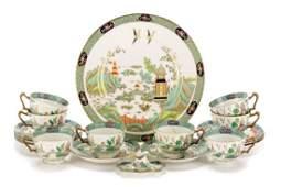Crown Staffordshire Ye Olde Willow Porcelain Set