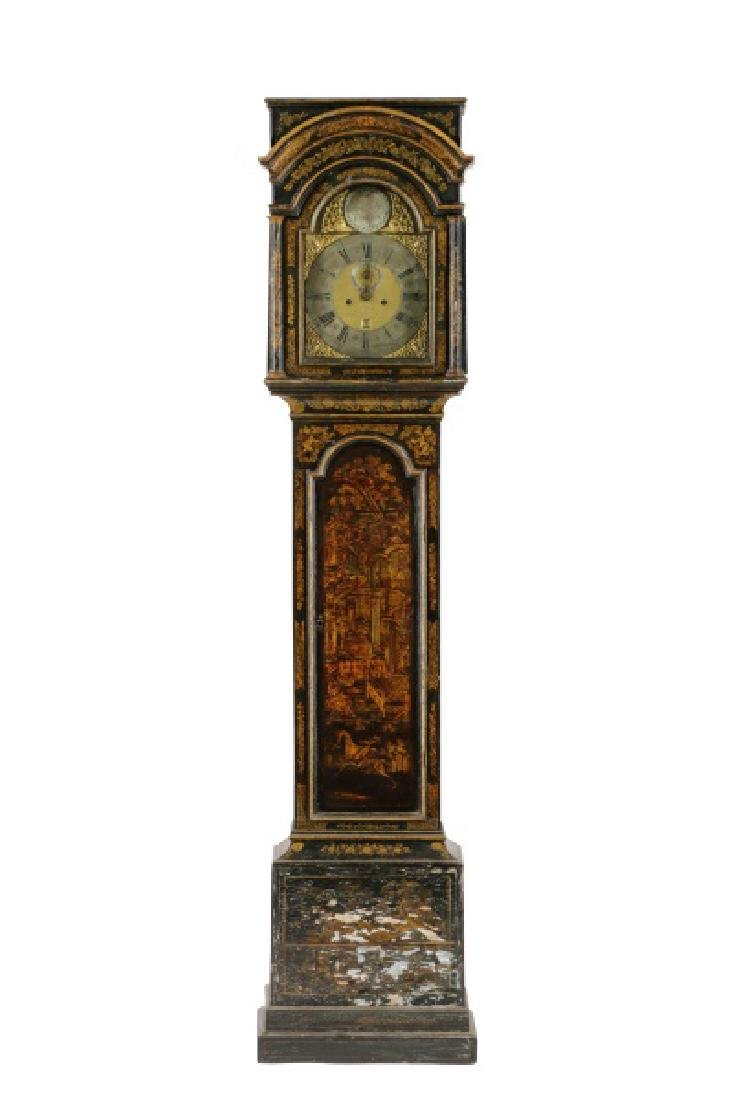 George II Japanned Long Case Clock, John Pyke
