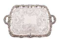 Large Regency Old Sheffield Plate Silver Tray
