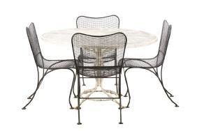 4 Woodard Mid Century Modern Patio Chairs W/ Table