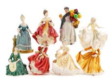 Collection of 8 Royal Doulton Porcelain Figurines