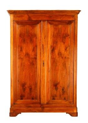 Louis Philippe Style Carved Cherry Armoire