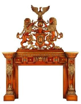 Palatial French Baroque Style Mantle Surround
