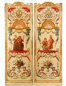 Continental School Pair of Louis XV Style Panels
