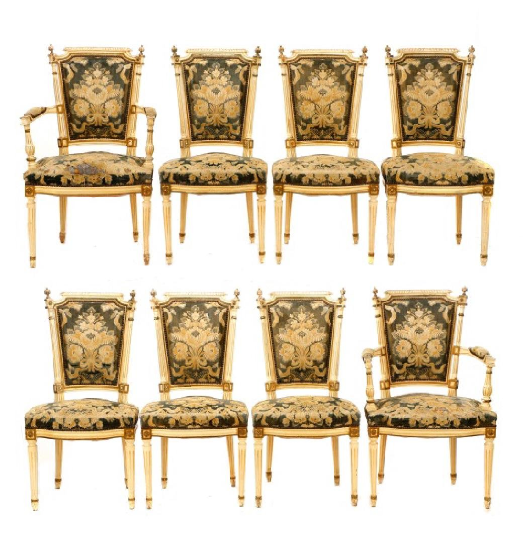 8 Louis XVI Style Dining Chairs