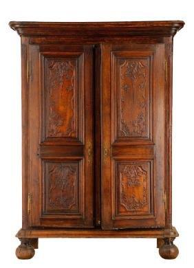 Dutch Baroque Style Oak Carved Kas Wardrobe