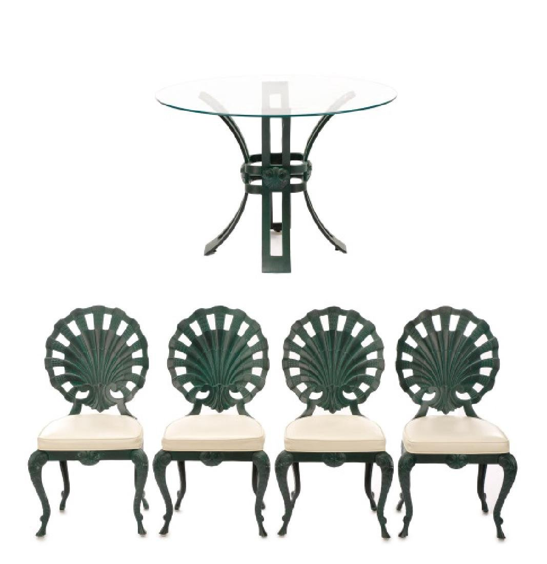 Brown Jordan Shell Grotto Table & 4 Chairs
