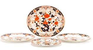 Set, 4 Graduated Royal Crown Derby Imari Platters