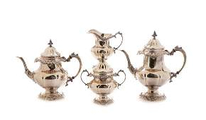 """Wallace Sterling """"Grand Baroque"""" Coffee Tea Set"""