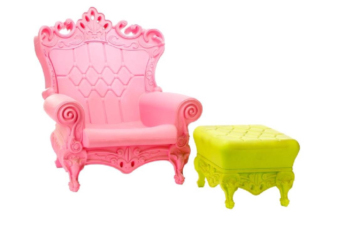 """""""Design of Love"""" Baroque Style Chair & Ottoman"""