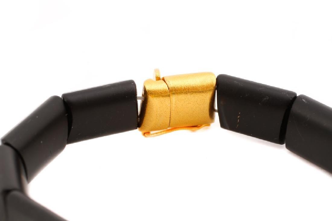 Black Tourmaline & Gold Link Bracelet - 2