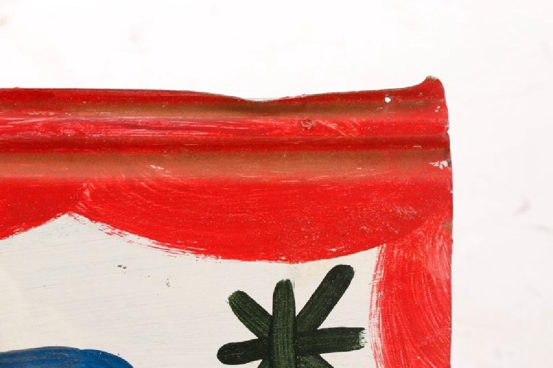 RA Miller Folk Art Painted Shark on Metal - 6