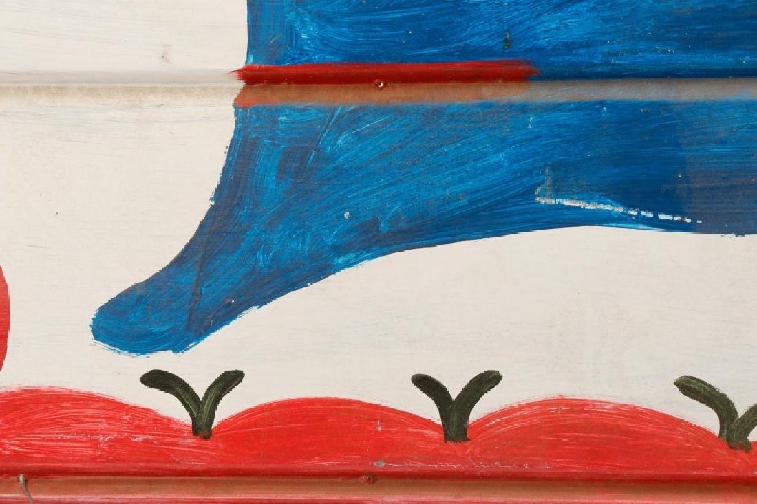 RA Miller Folk Art Painted Shark on Metal - 7