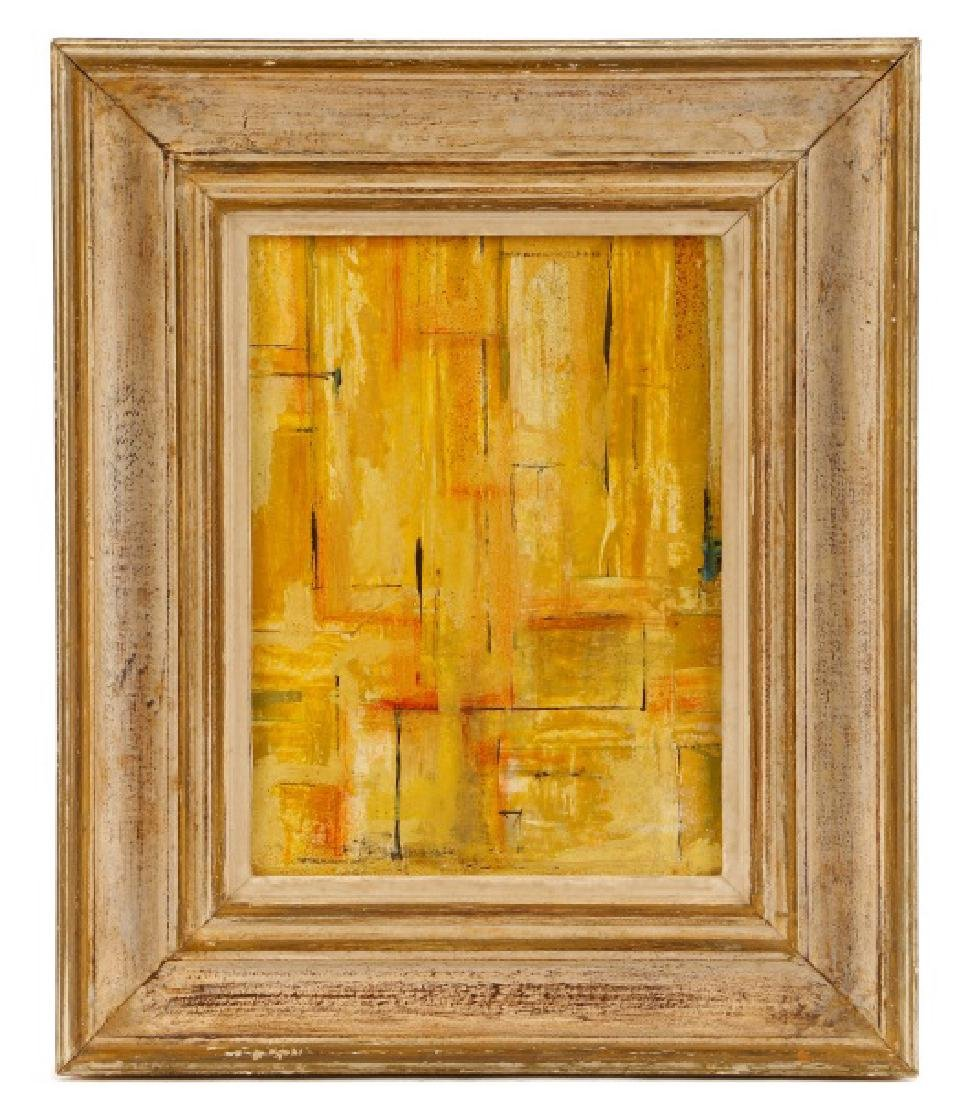 """W.C. Appleby, """"Yellow Abstraction"""", Oil on Board"""