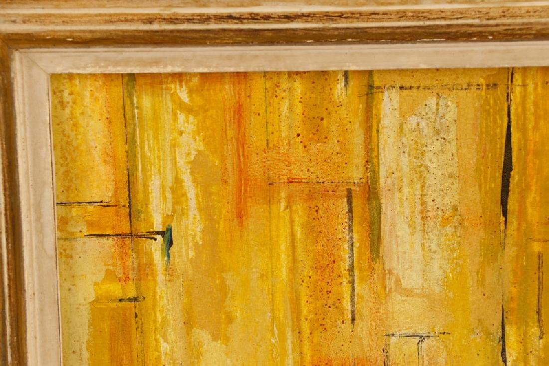 """W.C. Appleby, """"Yellow Abstraction"""", Oil on Board - 2"""