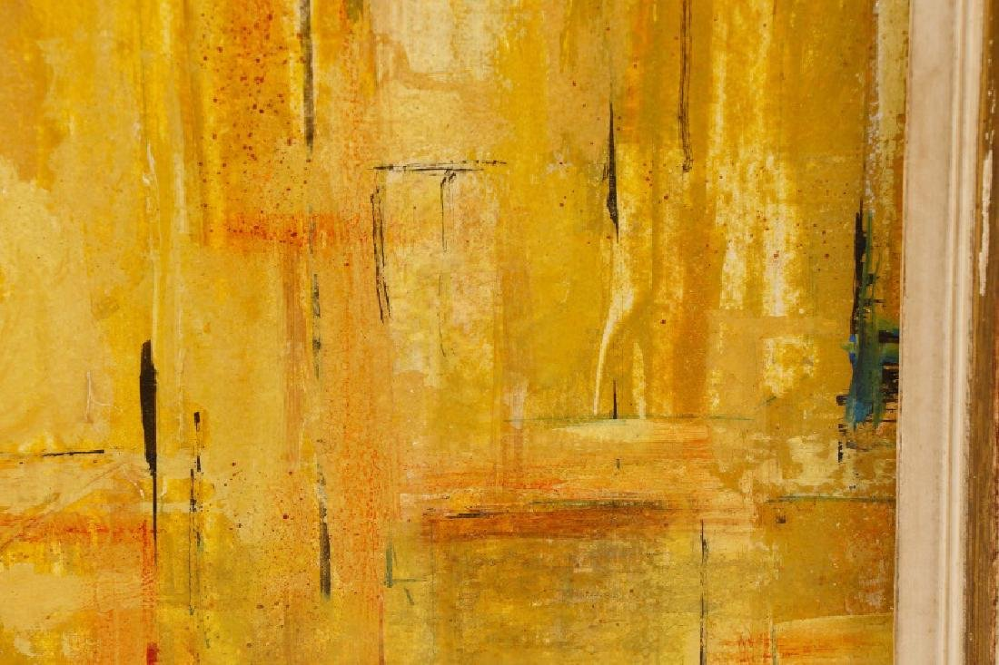 """W.C. Appleby, """"Yellow Abstraction"""", Oil on Board - 3"""