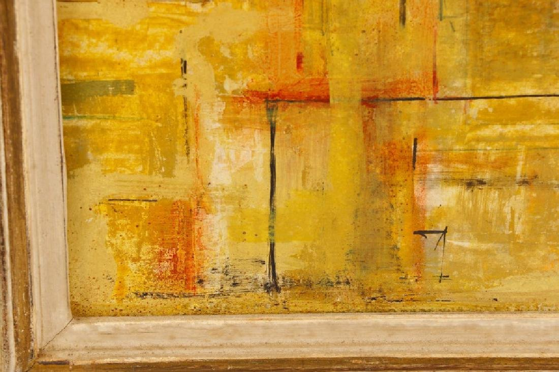 """W.C. Appleby, """"Yellow Abstraction"""", Oil on Board - 4"""