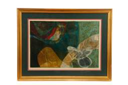 """Sunol Alvar, """"Woman w/ Doves"""" Signed Lithograph"""