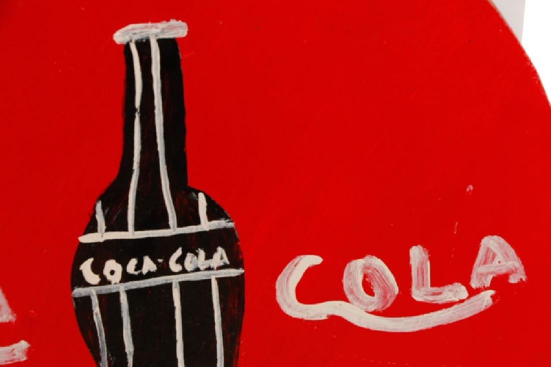 RA Miller 2 Painted Coca-Cola Signs on Wood - 5