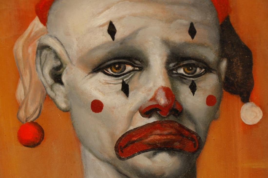"Dean Chapman ""Sad Clown"", Oil on Canvas - 2"