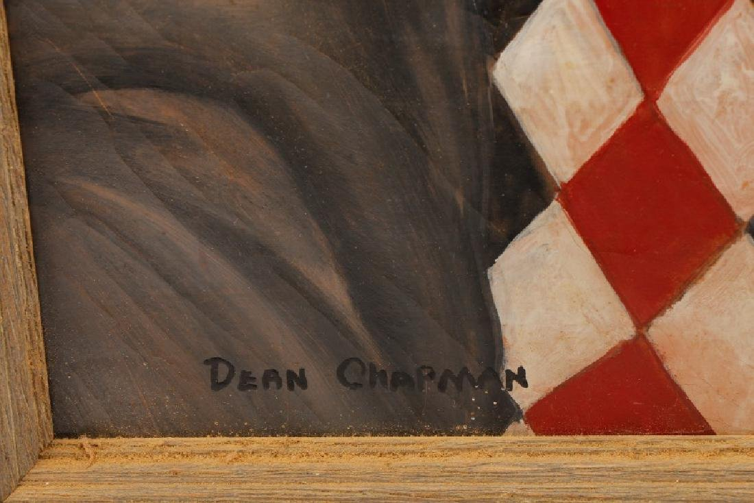 "Dean Chapman ""Sad Clown"", Oil on Canvas - 5"