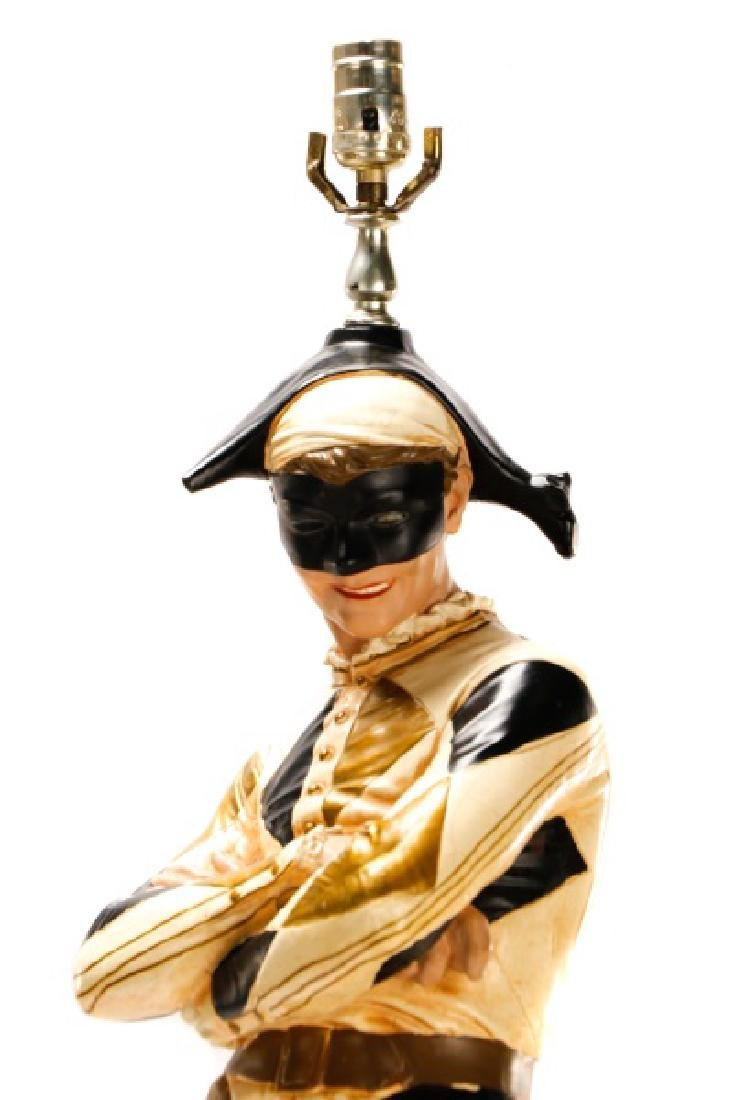 Large Figural Jester Lamp, St. Marceaux Style - 3